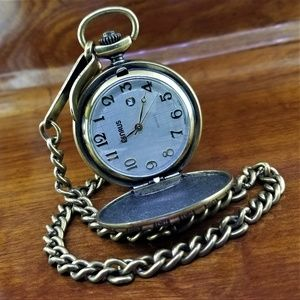 Vintage BENRUS Bronze TN Roman Key Pocket Watch